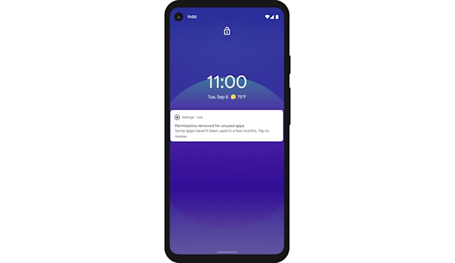 Android 11 permissions auto reset