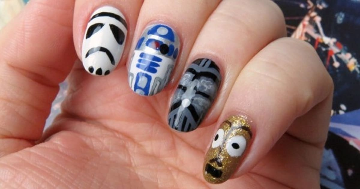 Mani monday how to create star wars inspired nail art prinsesfo Gallery