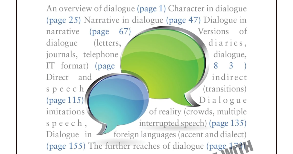 writing good dialogue These simple rules and pitfalls are good to keep in mind when writing dialogue that advances the action of the story and builds the characters.