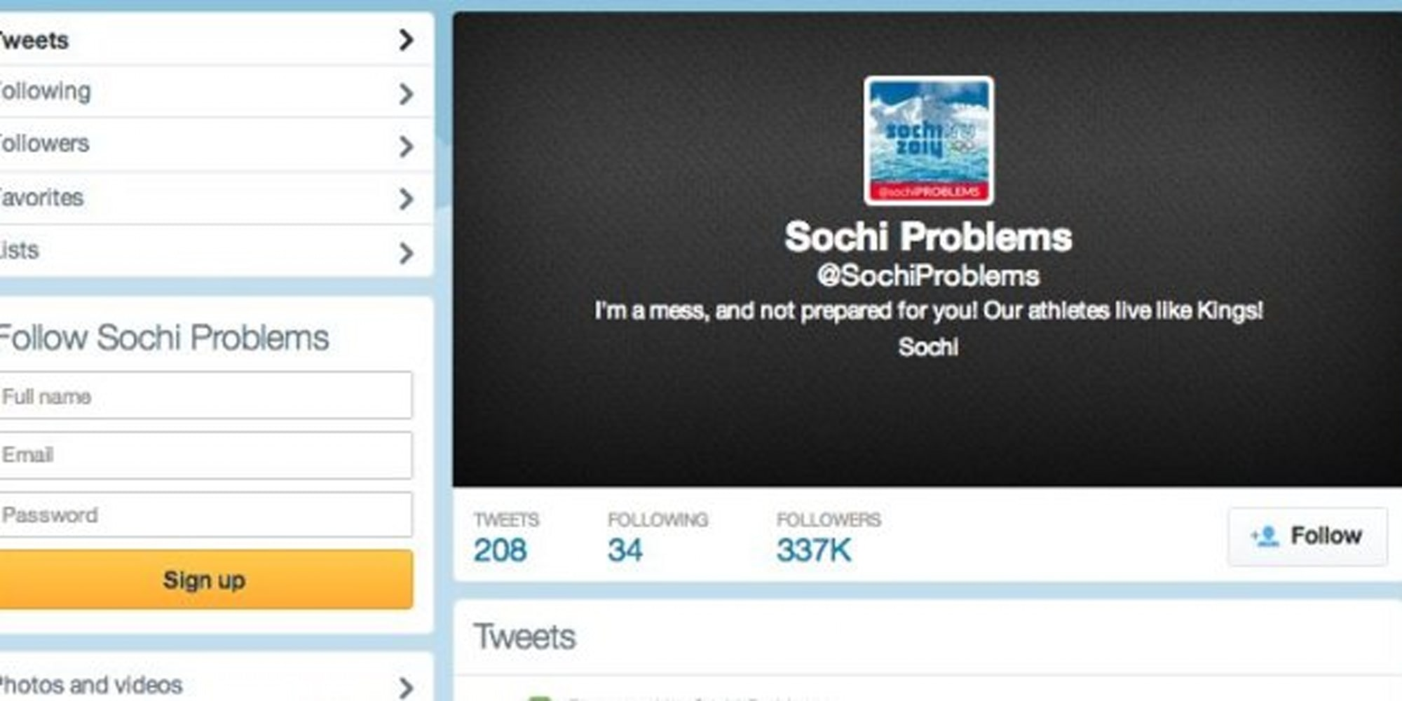 Sochi Problems Alexander Broad Toronto Journalism Student - Sochi problems tweets