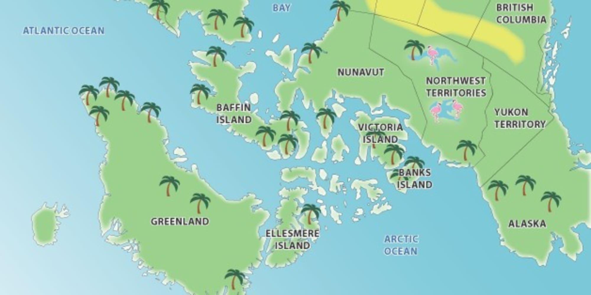 World Upside Down Map