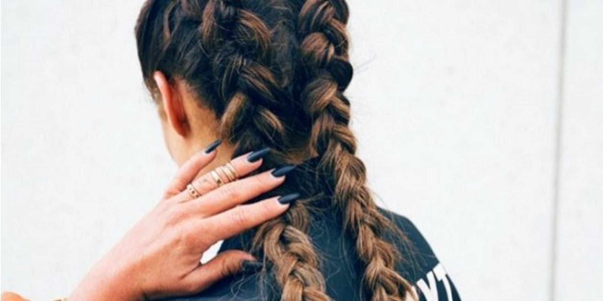 Rainbow Extensions And Braids We Were All Wondering How Kylie Kylie Jenner  Cornrow Hair Tutorial 60 Second Cornrows Messy Side Braid