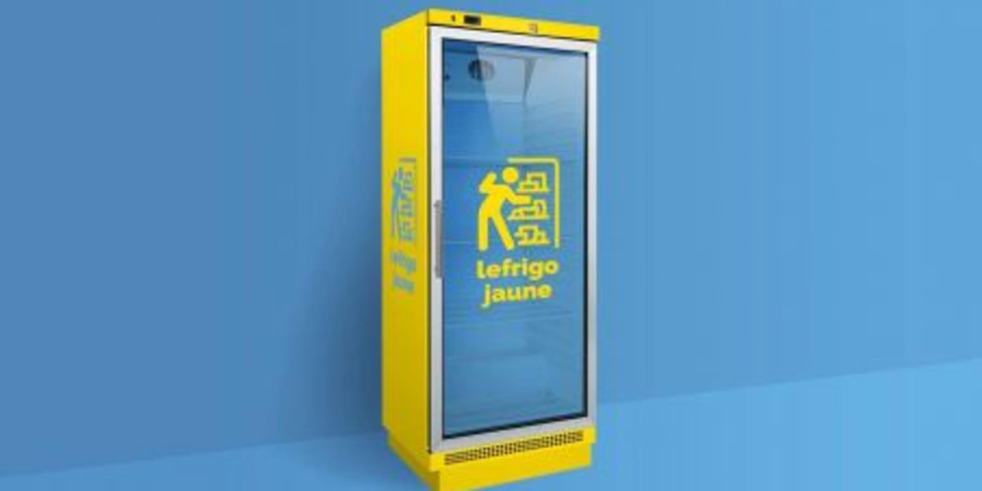 Refrigerateur jaune for Poltronesofa strasbourg