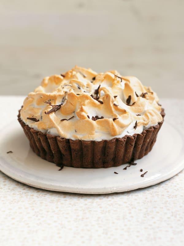 Mile-High Chocolate Meringue Pie recipe