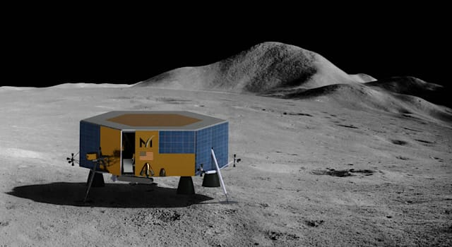 Masten's XL-1 lunar lander will deliver science and technology payloads to the Moon's South Pole in 2022.