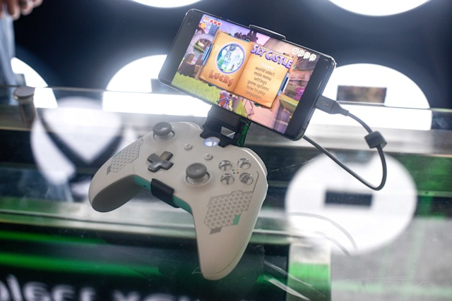 LONDON, ENGLAND - JULY 11: An Xbox xCloud device on display at the Microsoft store opening on July 11, 2019 in London, England. Microsoft opened their first flagship store in Europe this morning, August 11. (Photo by Peter Summers/Getty Images)