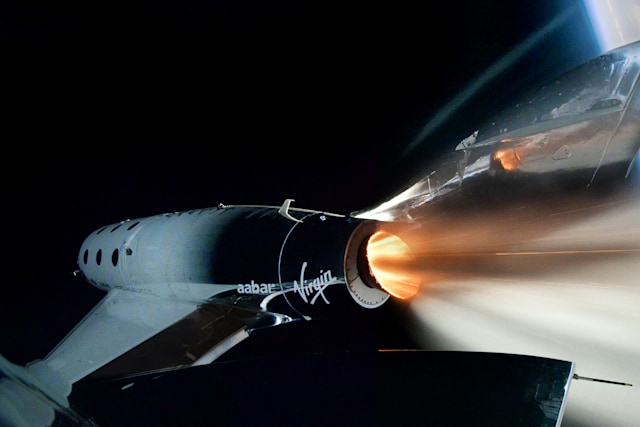 Virgin Galactic SpaceShip Two enters space for the first time