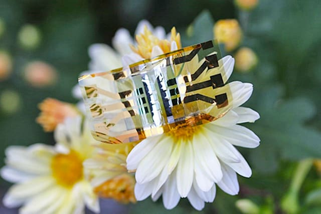 Extra-light, flexible solar cell could keep your smartwatch powered