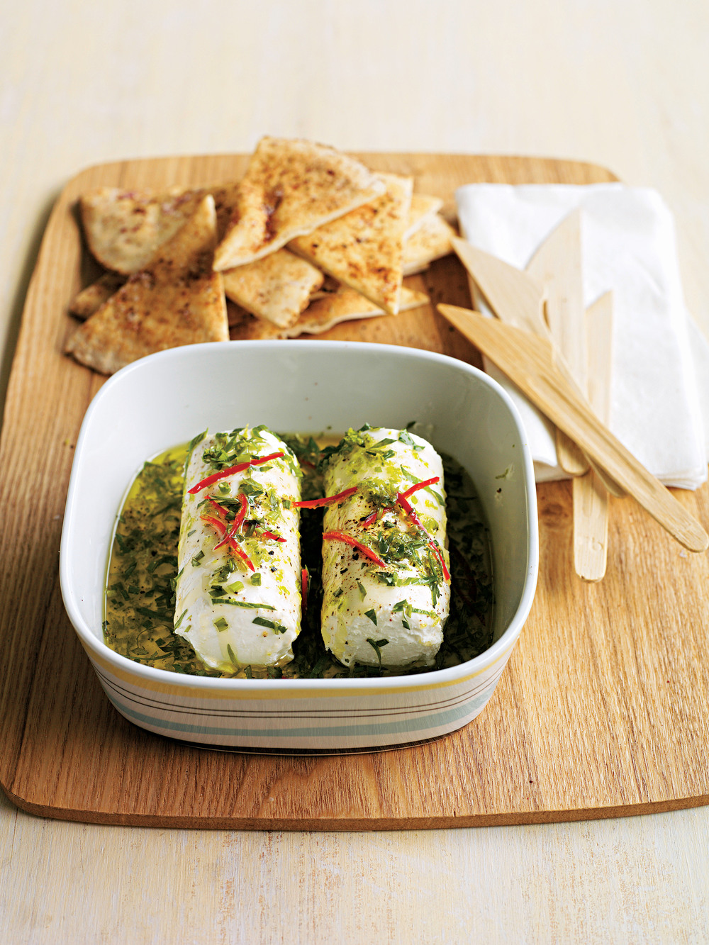 Marinated Goats' Cheese with Pittas - AOL Living UK