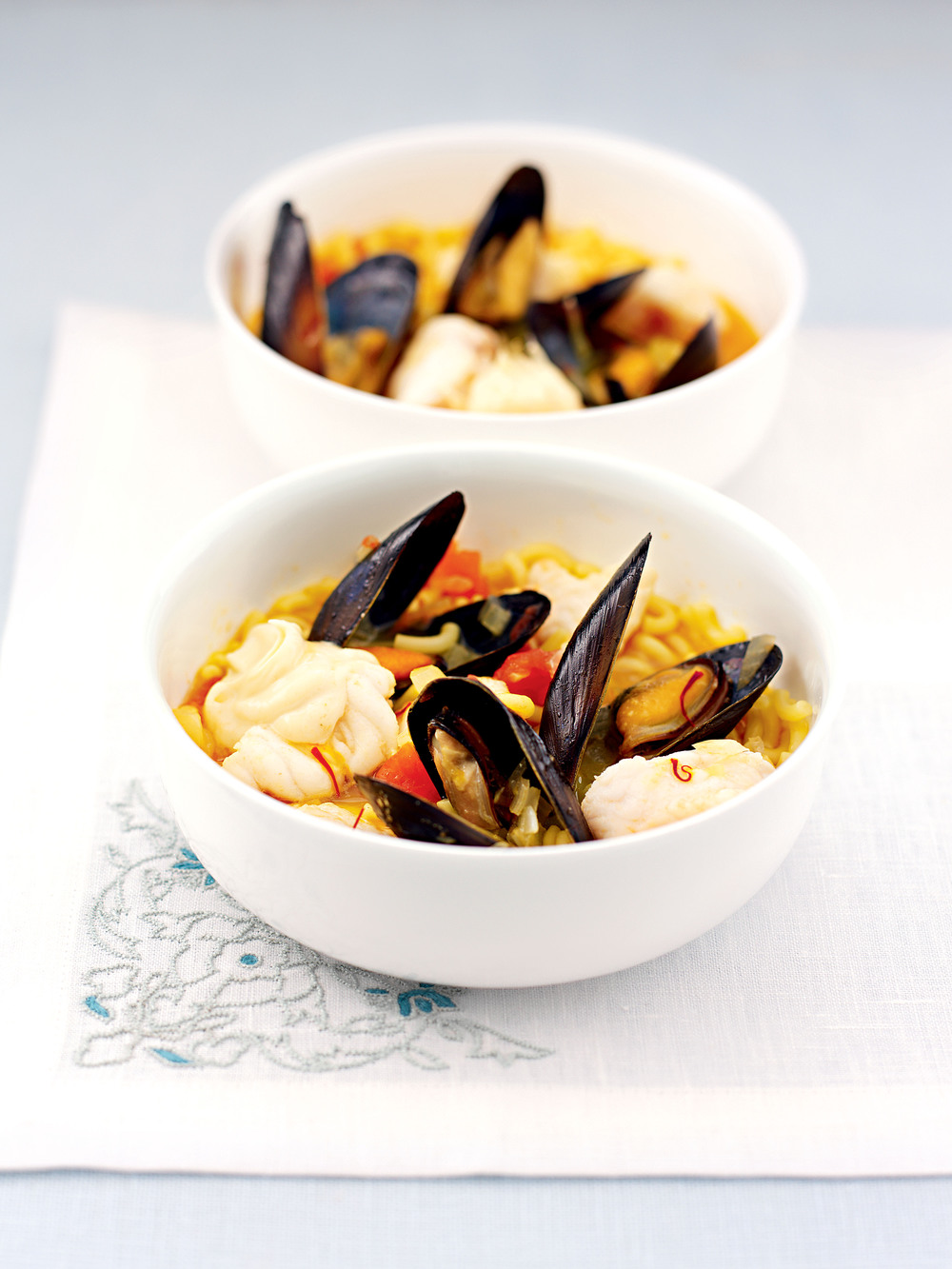 Pasta with Monkfish & Mussels
