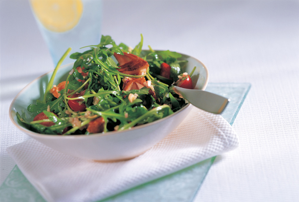Warm Tea-Smoked Salmon Salad