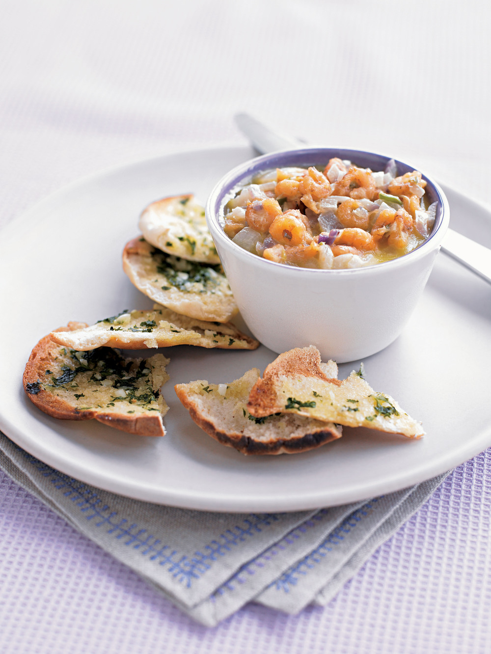 Potted Shrimp with Herby Pittas - AOL Living UK