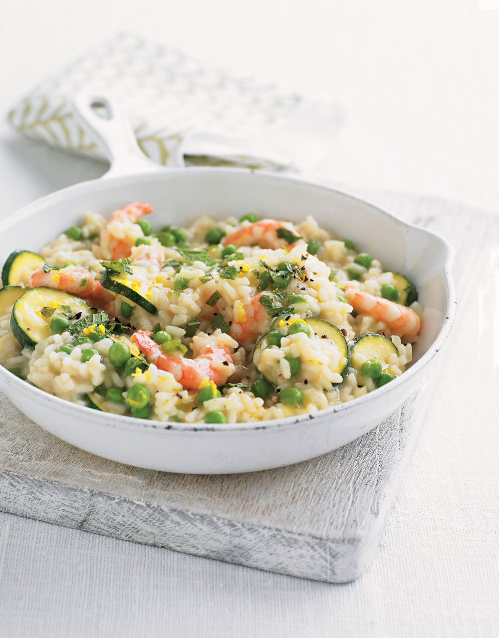 prawn courgette pea risotto recipe. Black Bedroom Furniture Sets. Home Design Ideas