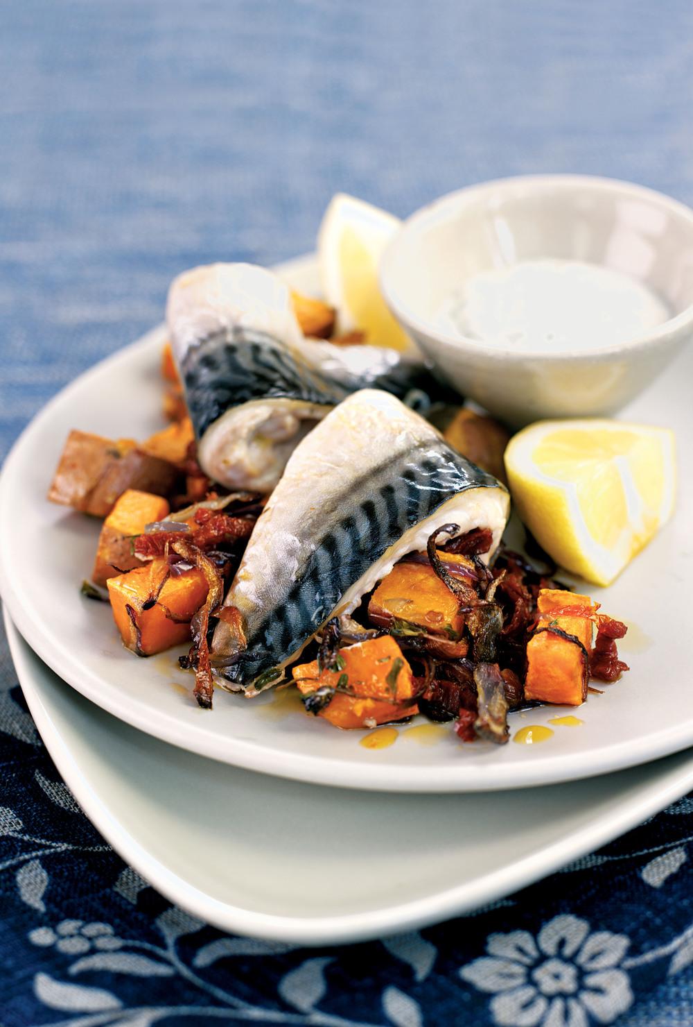 Mackerel with Sweet Potatoes recipe