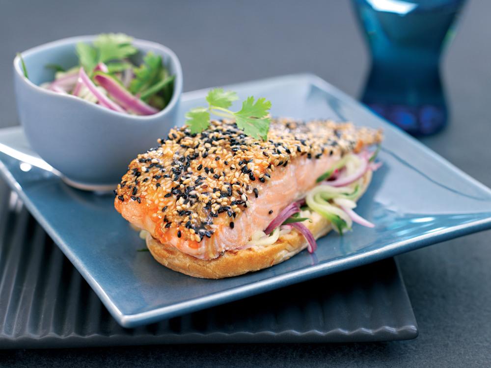 Aol UK | Food | Sesame Salmon Burgers