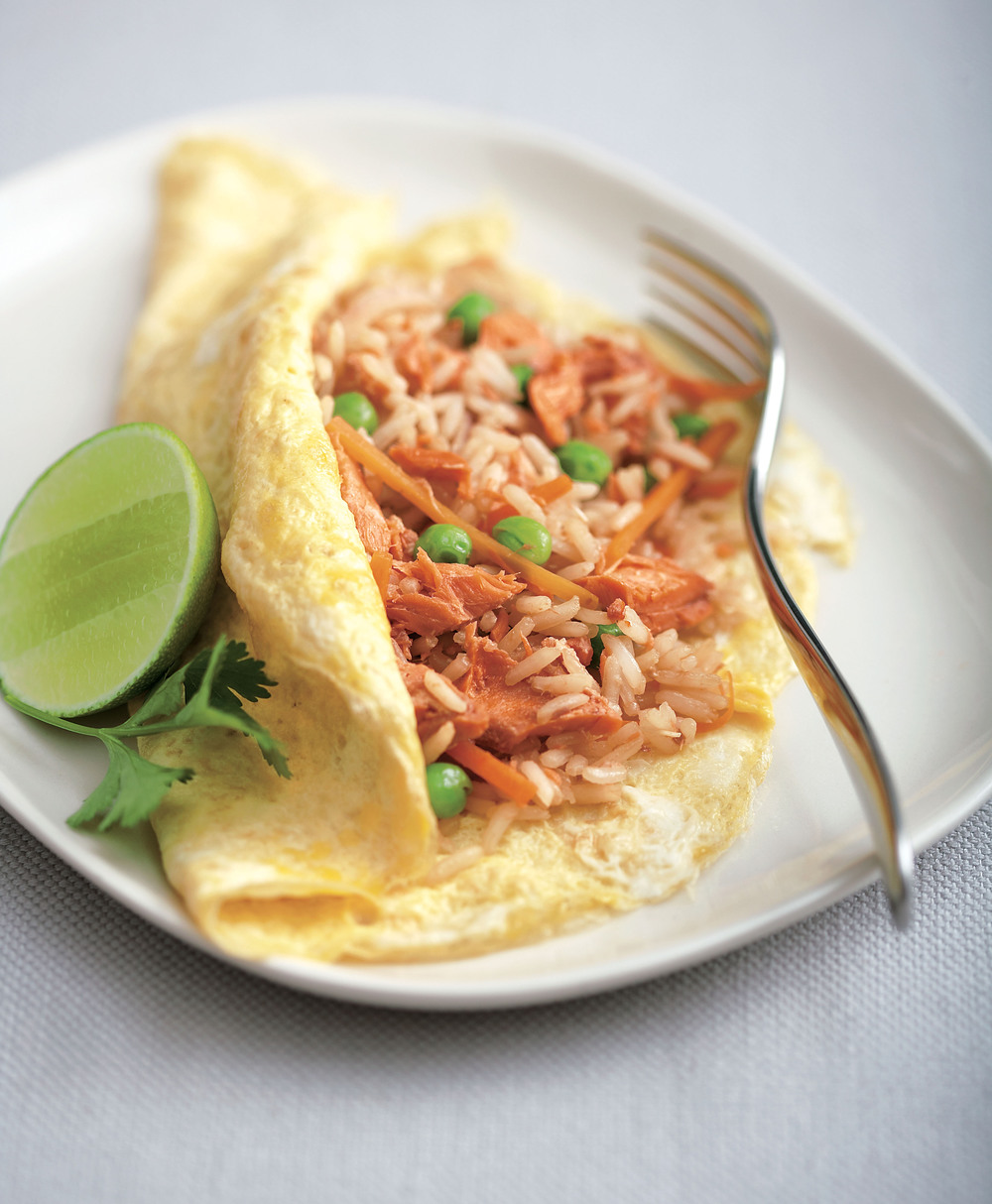 Denver Omelet Salad Recipe: Fried Rice With Salmon Omelette Recipe