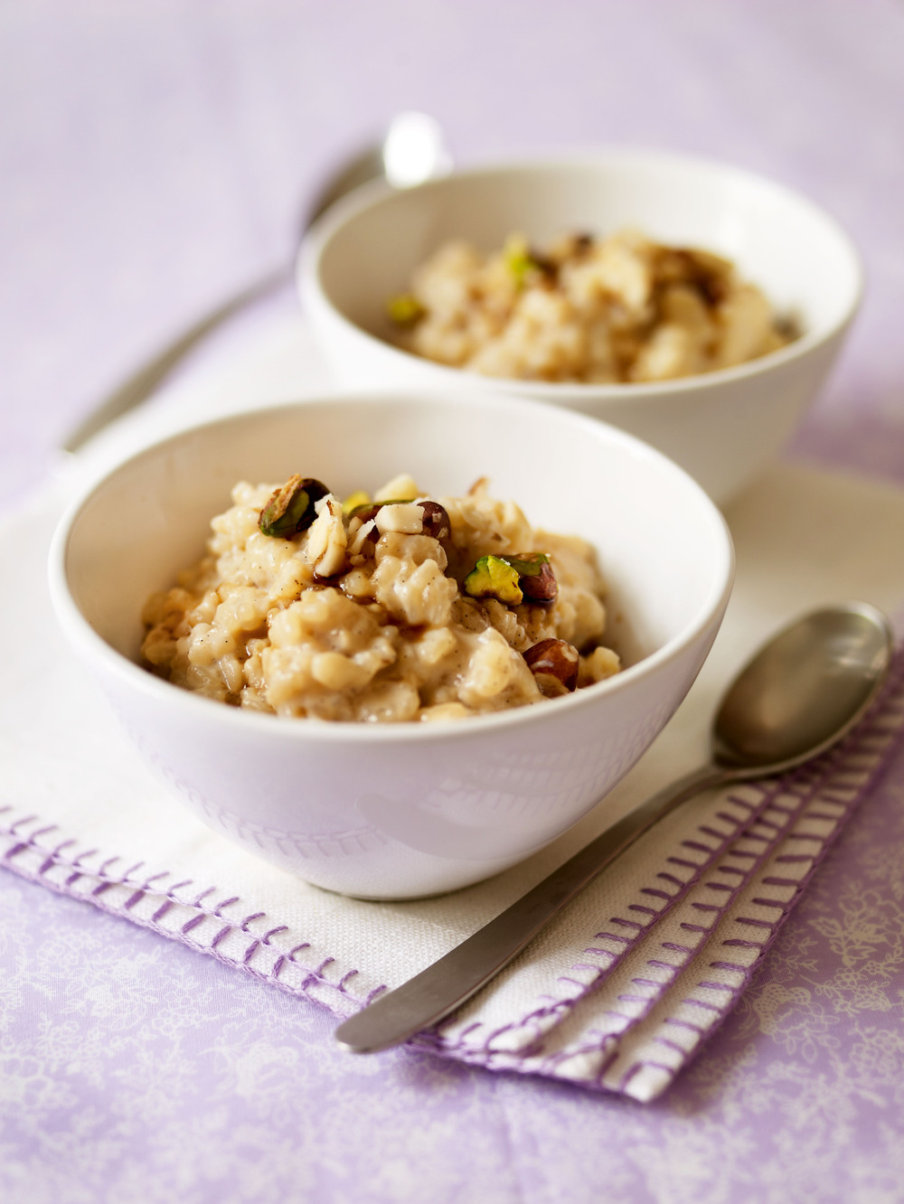Rice Pudding with Toasted Nuts recipe