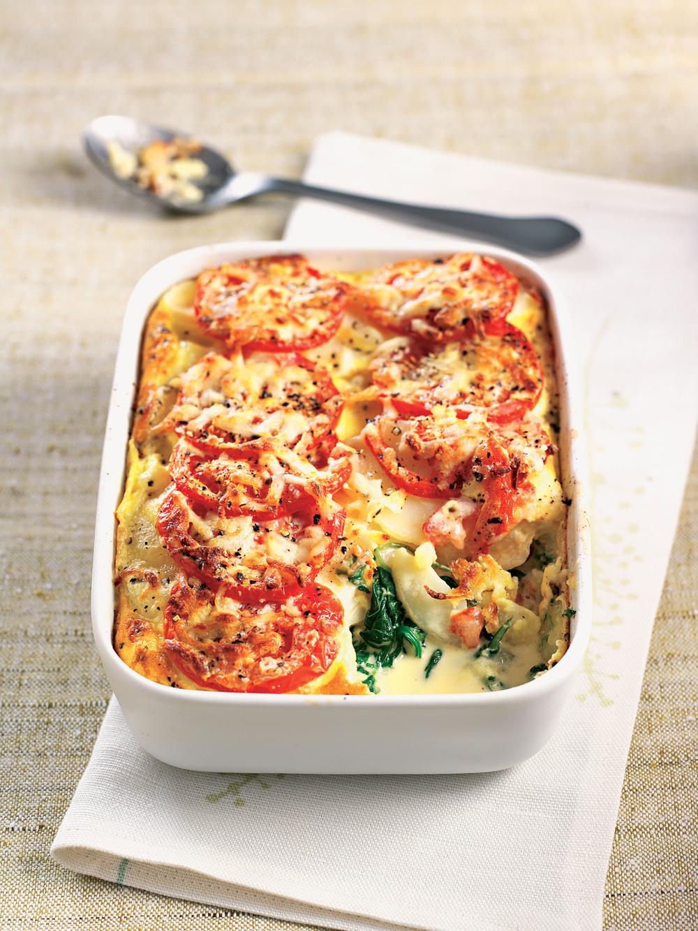 Spinach & Potato Gratin recipe