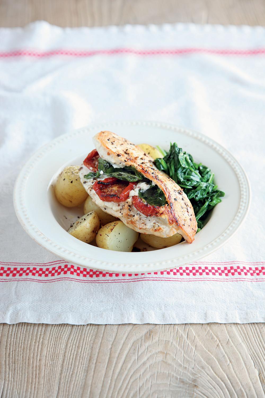 Basil, Ricotta and Sun-Dried Tomato Chicken recipe
