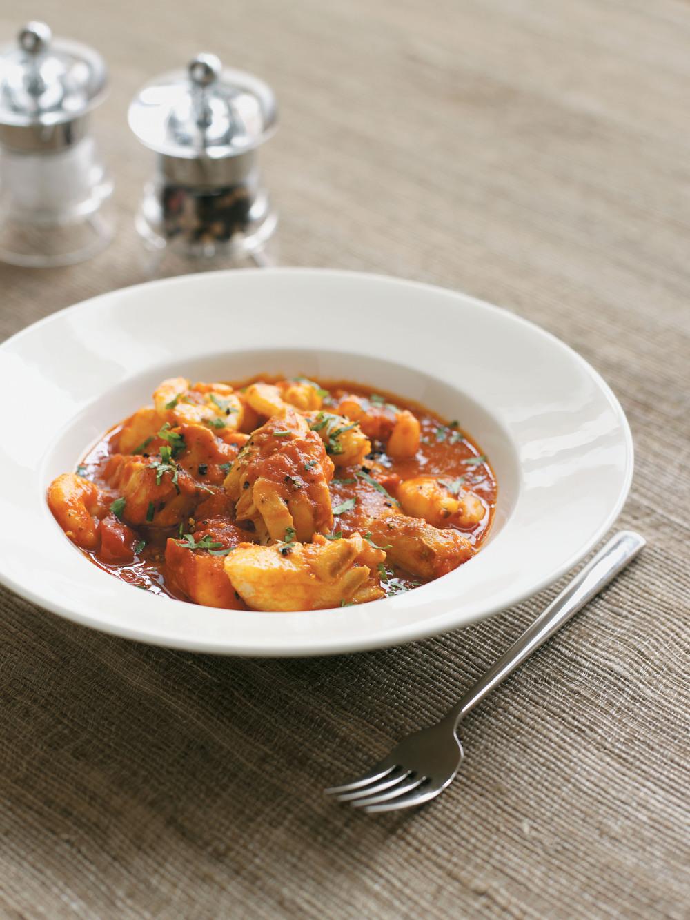 Rich tomato wine and fish stew recipe for Tomato fish stew