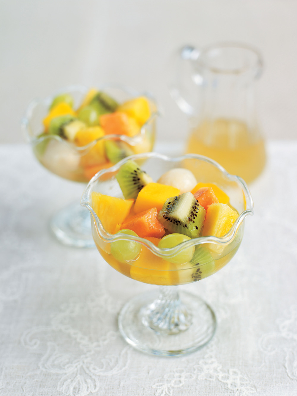 Tropical Fruit Salad with Ginger Green Tea Syrup - AOL ...