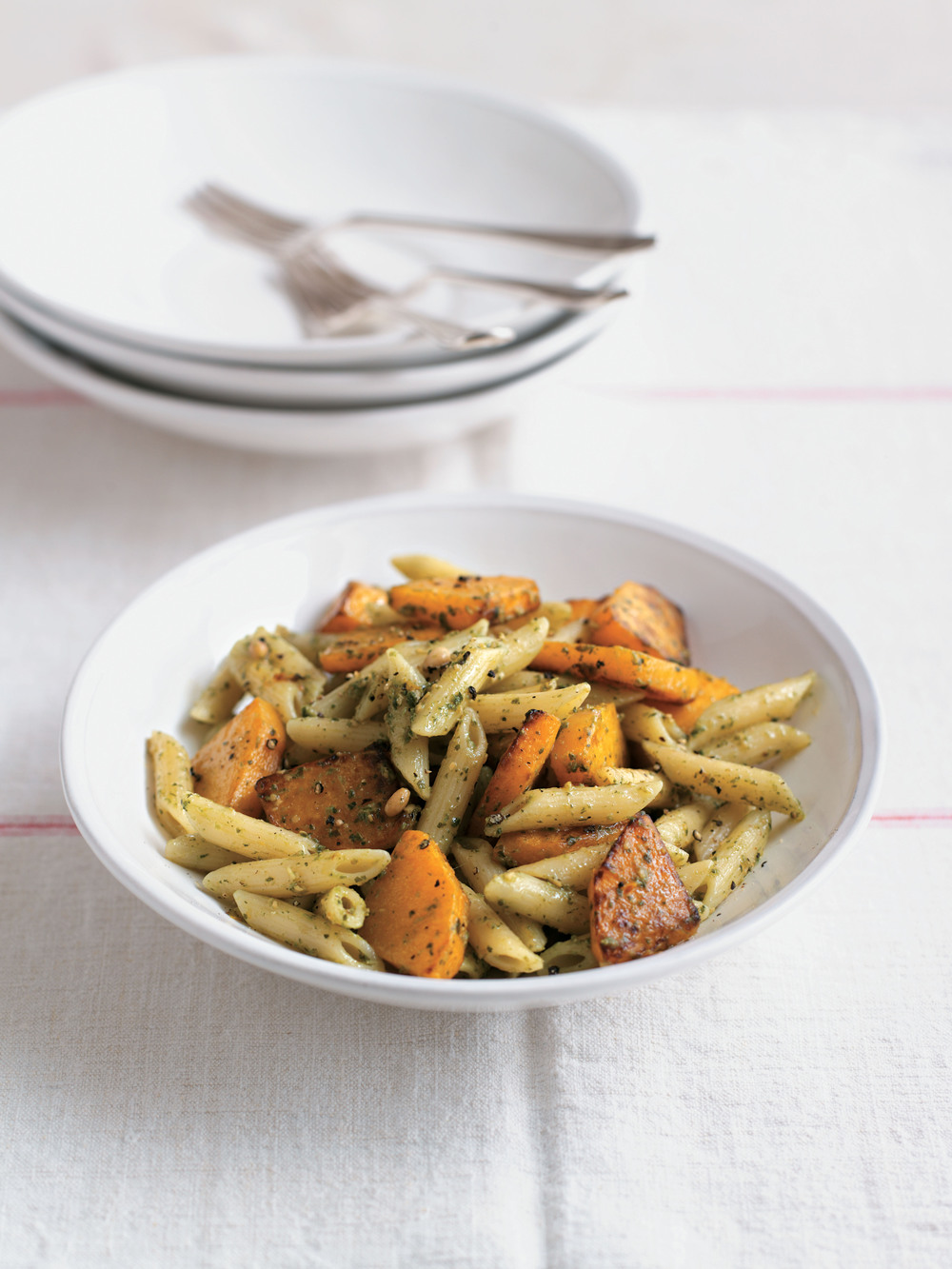 Penne with Pan-Fried Butternut Squash and Pesto - AOL Living UK