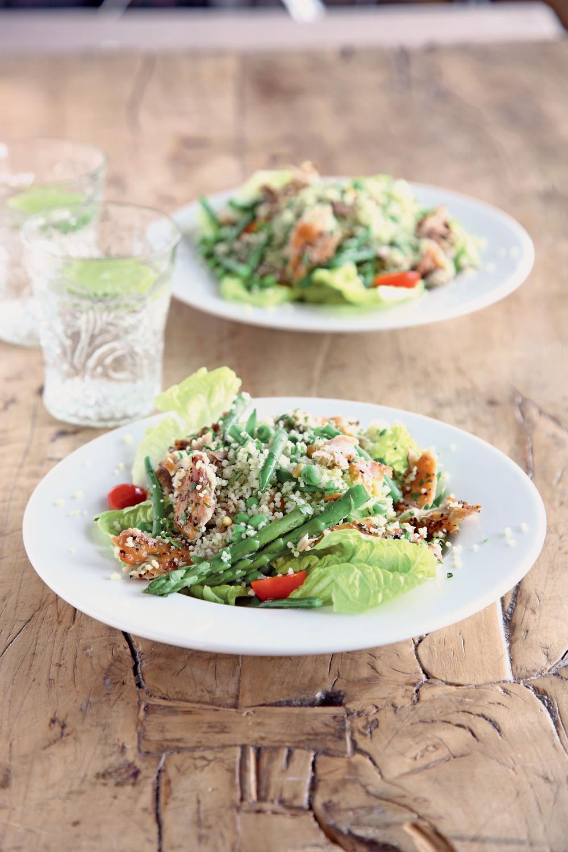 Smoked Mackerel and Spring Vegetable Tabbouleh - AOL Living UK