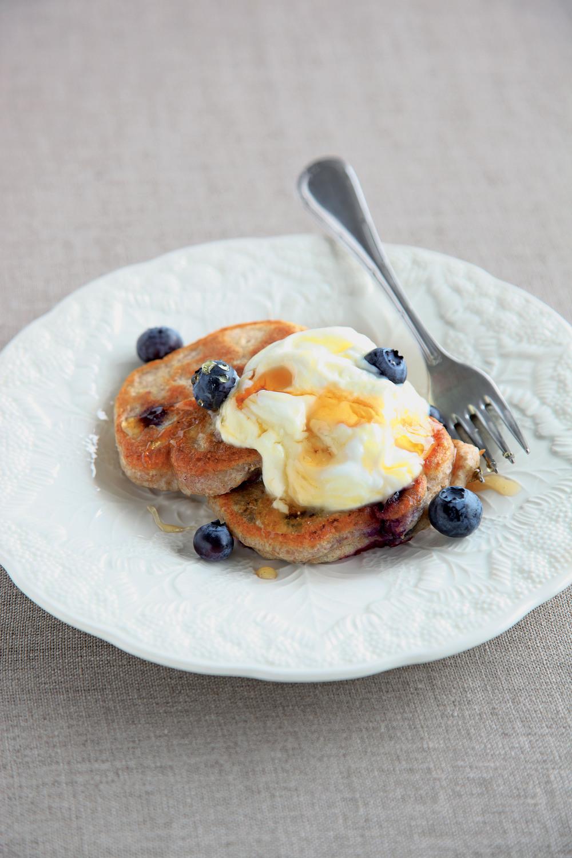 Wholemeal Blueberry Pancakes with Lemon Curd Yogurt - AOL ...