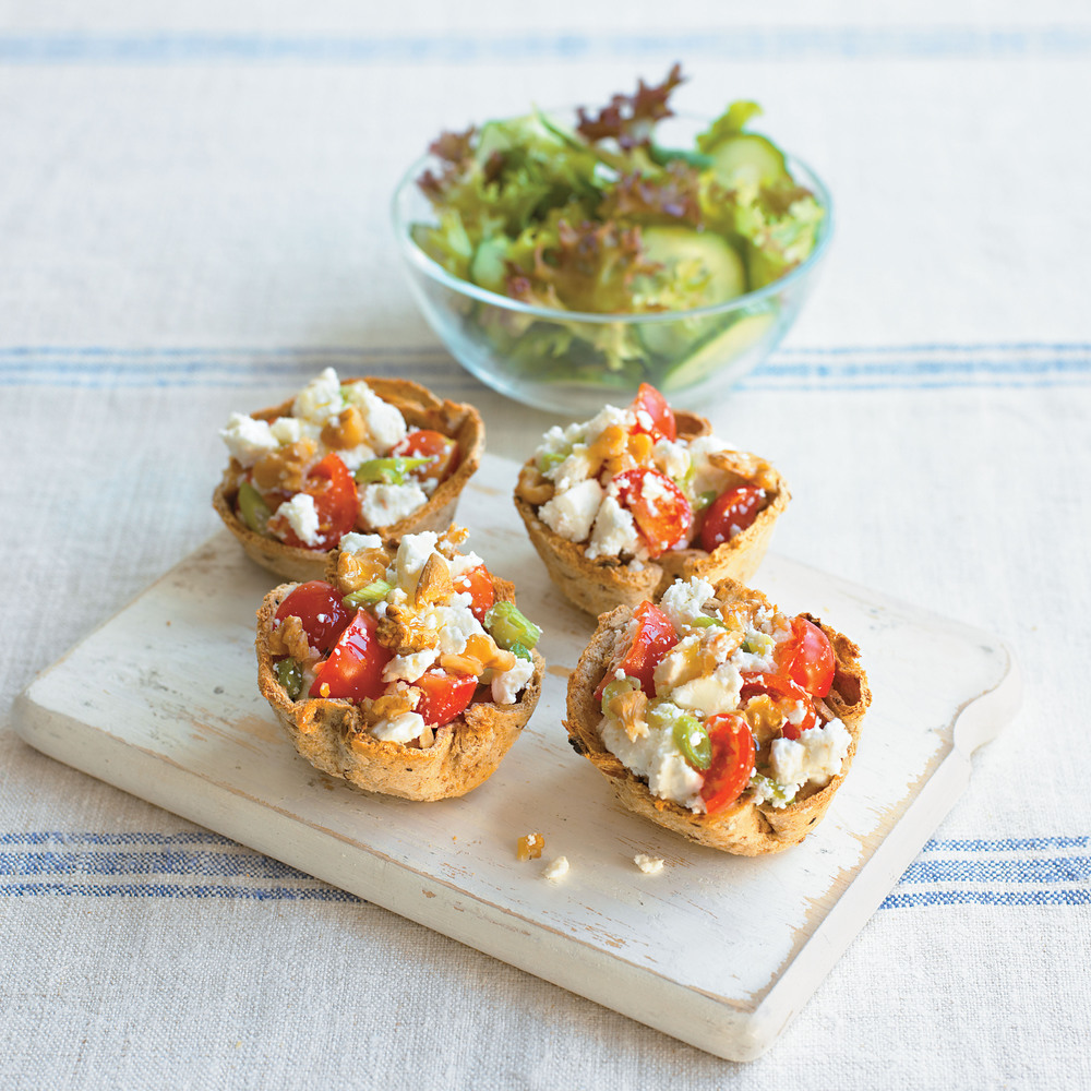 Aol UK | Food | Feta, Spring Onion and Walnut Tartlets