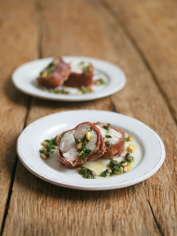 Crispy parma ham wrapped monkfish recipe for Monkfish and parma ham recipe