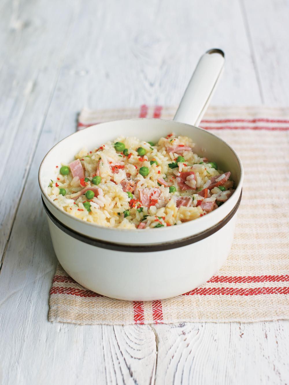 Spicy ham and pea risotto recipe for Ham risotto recipe