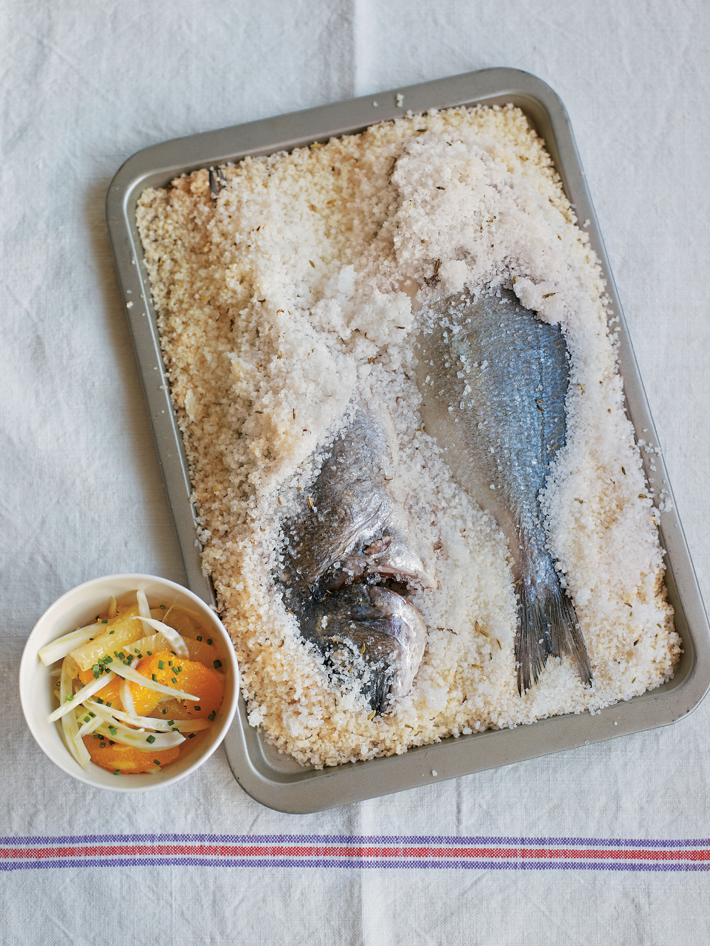 Sea Bream in a Salt Fennel Crust with Lemon Dressing - AOL Living UK