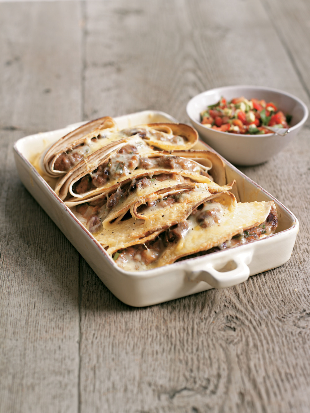 Aol UK | Food | Quesadillas with Refried Beans and Avocado Salsa