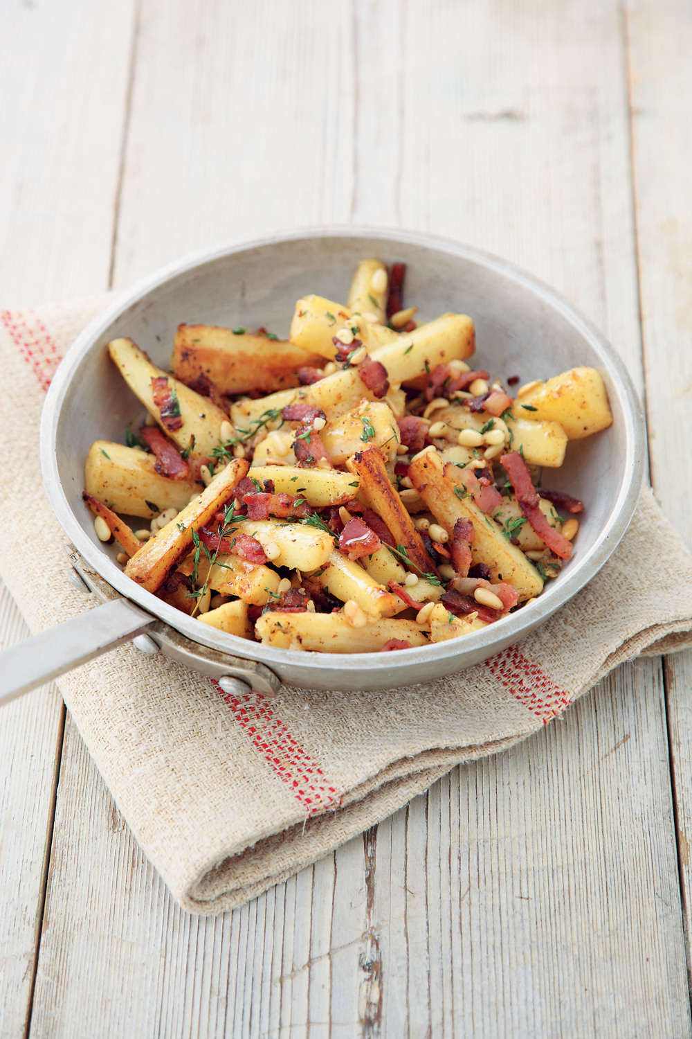 Caramelized Bacon and Pine Nut Parsnips - AOL Living UK