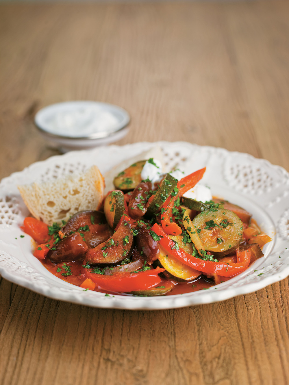 spicy courgette aubergine and date tagine aol living uk