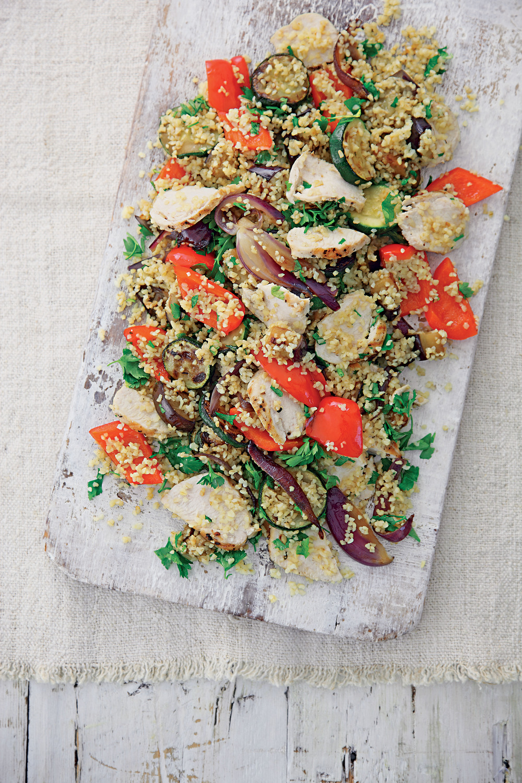 Warm Chicken, Med Veg and Bulgar Wheat Salad