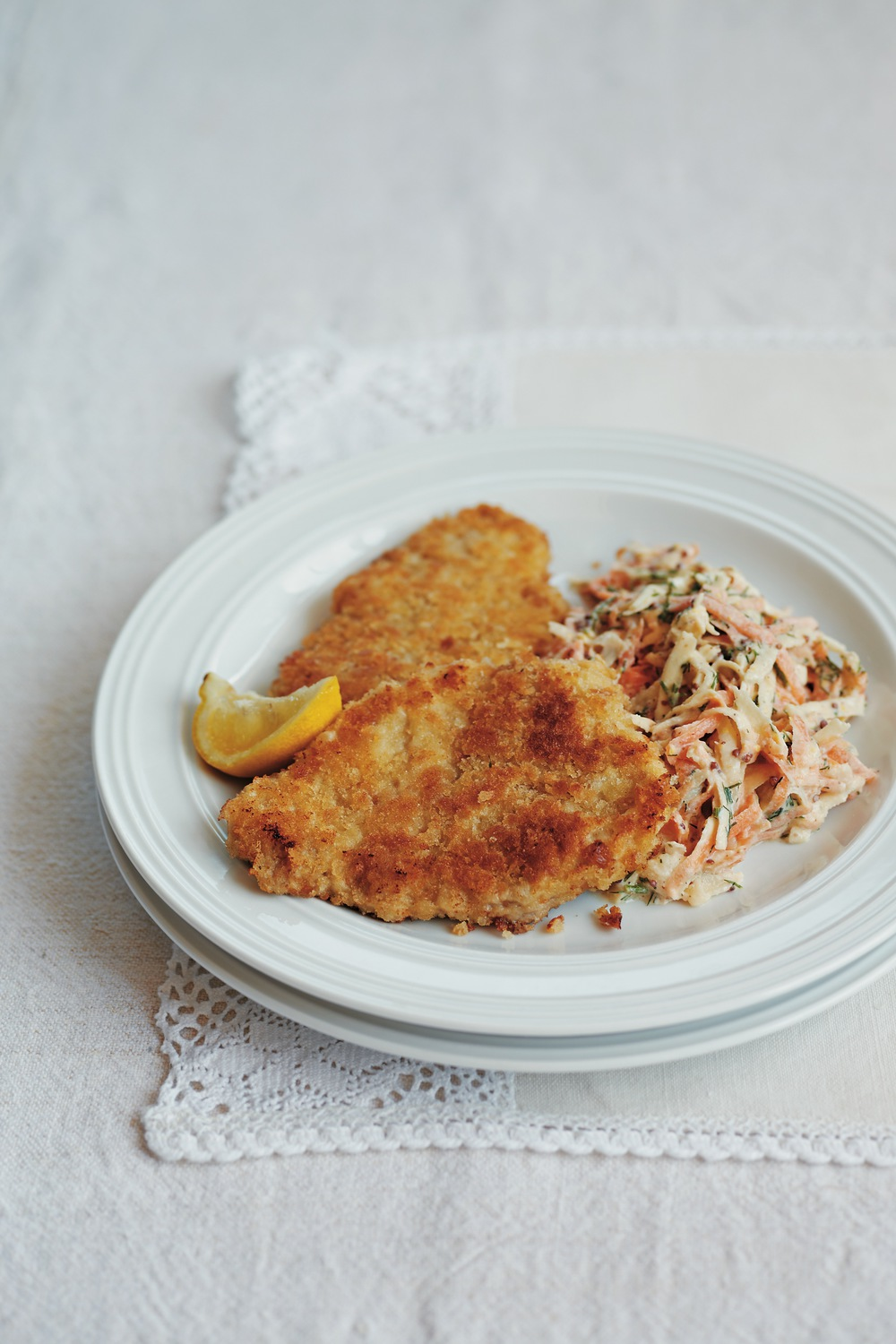 Crispy Pork Milanese with Root Vegetable Coleslaw - AOL Living UK