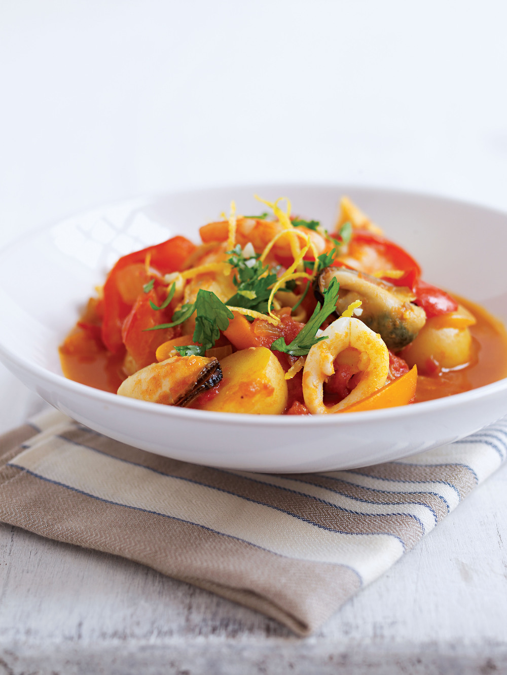 Seafood stew with gremolata recipe for Recipe for seafood stew