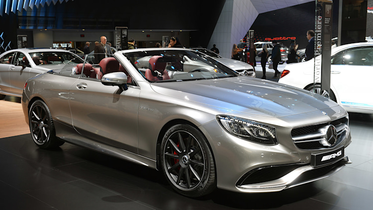 mercedes amg launches s63 cabriolet edition 130 in detroit autoblog. Black Bedroom Furniture Sets. Home Design Ideas