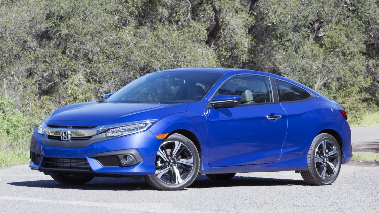 the motoring world usa all new 2016 honda civic coupe earns iihs top safety pick rating. Black Bedroom Furniture Sets. Home Design Ideas