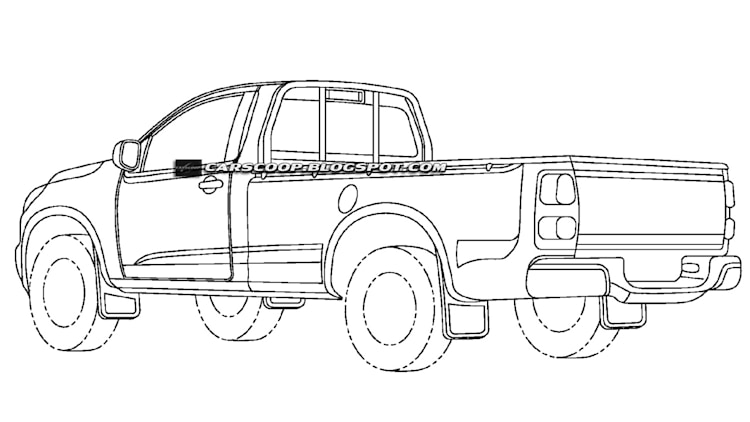 Patent Drawings Reveal New Chevrolet Small Pickup But