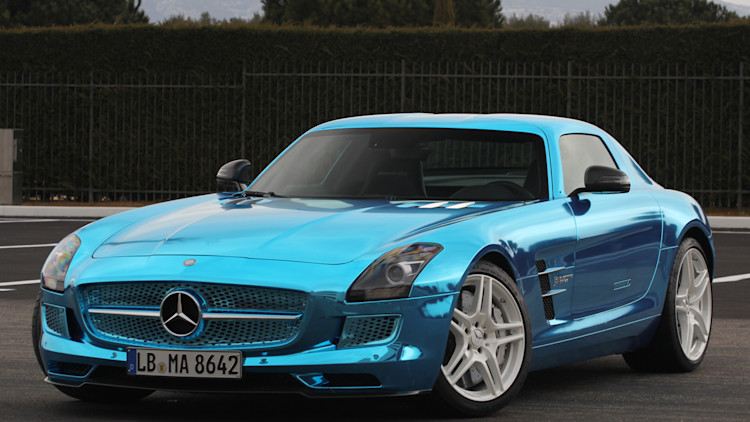 mercedes benz sls amg electric drive w video autoblog. Black Bedroom Furniture Sets. Home Design Ideas