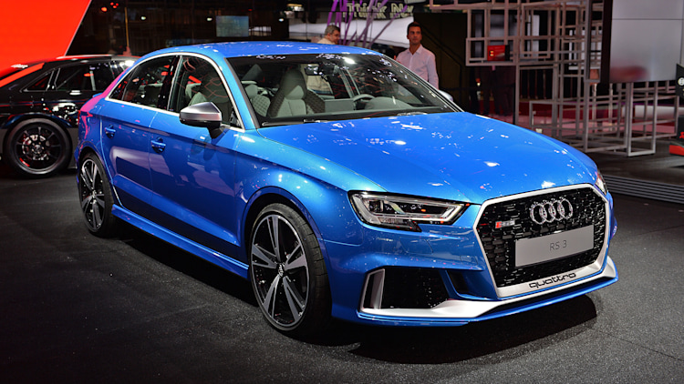 the audi rs3 shows up at paris with five cylinders 400 hp and a scowl autoblog. Black Bedroom Furniture Sets. Home Design Ideas