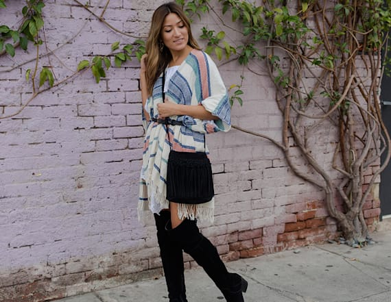 Street style tip of the day: Belted shawl