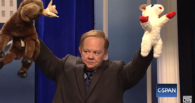 Even Sean Spicer Called Melissa McCarthy's 'SNL' Sketch 'Funny' & 'Cute'