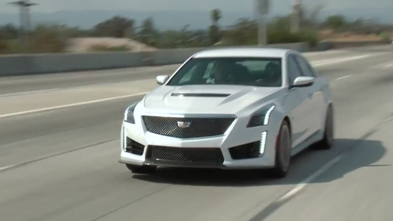 Jay Leno Checks Out The 2016 Cadillac Cts V From Every Angle To Satisfy His Curiosity He Also Finds Whether 640 Horse Sedan Can Do A Burnout