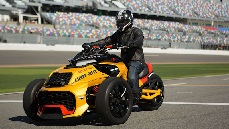 can am spyder f3 turbo concept is a 150 hp three wheeler w video autoblog. Black Bedroom Furniture Sets. Home Design Ideas