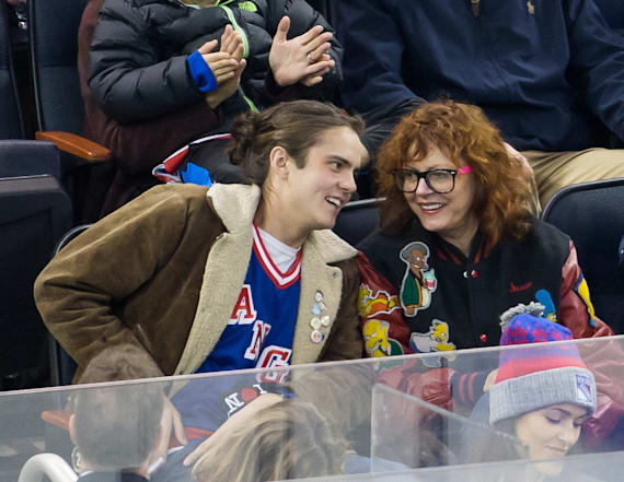 Susan Sarandon hangs with 24-year-old son Miles