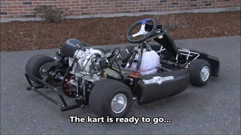 here 39 s a 4 pound 3 hp experimental rotary engine in a go kart autoblog. Black Bedroom Furniture Sets. Home Design Ideas