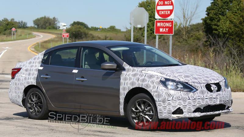 Next Nissan Sentra spied, test driver salutes